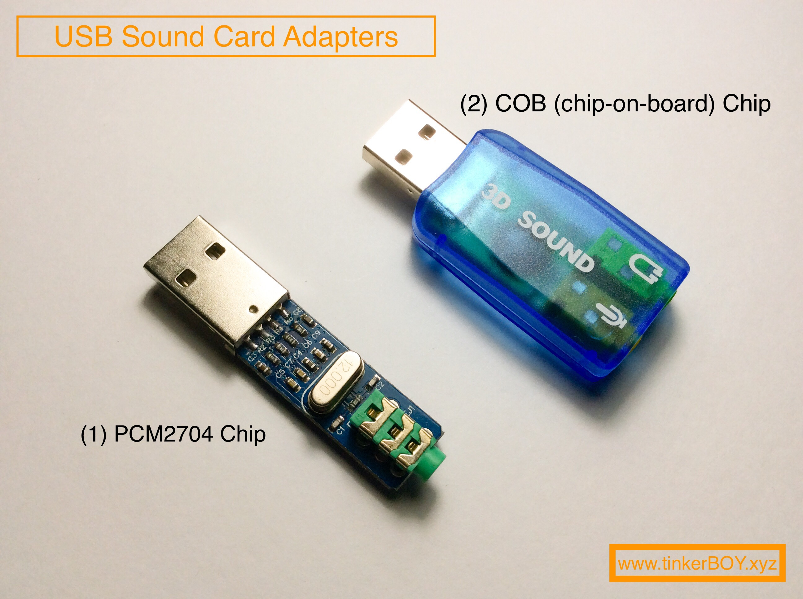Pinout Diagrams for the PCM2704 and 3D Sound(COB) USB Sound Card Adapters -  tinkerBOY [ 1936 x 2592 Pixel ]